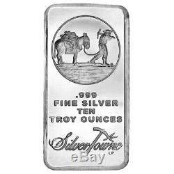 10 oz SilverTowne Prospector Silver Bar (New, Lot of 10)