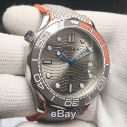 10BAR Sterile Dial JAPAN MIYOTA Gray Bezel DIVER300M Steel Auto 41mm Mens Watch