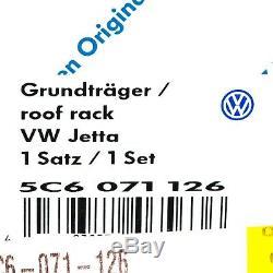 12-18 VW Volkswagen GLI MK6 & 11-18 Jetta MK6 Roof Base Carrier Bars OEM NEW