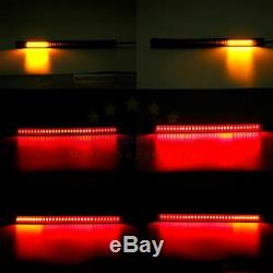 2 Light Strips Bar LED Tail Light License Brake Turn Signals ATV Motorcycle Cafe