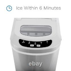 26lbs/24h Countertop Ice Maker Portable Pellet Ice Maker Machine Bar Home Party