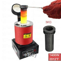 3KG Automatic Melting Furnace Gold Silver Smelter /Graphite Ingot Mold Mould Bar