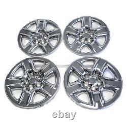 4 17 Chrome Wheel Skins Hub Caps Full Rim Skin Covers For 2006-2012 Toyota RAV4