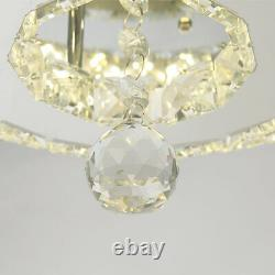 42 Silver Invisable Ceiling Fan Lamp Remote LED Crystal Lighting Chandelier