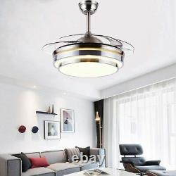 42Invisible Fan Chandelier Light Lamp LED Fan Ceiling Remote Control Modern