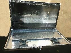 42L Aluminum Truck Underbody Tool Box Trailer RV Tool Storage Bed Five-Bar plat
