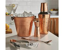 5 Pcs Copper Cocktail Shaker Gift Set Mixer Making Home Bar Kit Accessories New