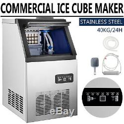 90LB Built-in Ice Maker Bar Restaurant Undercounter Freestand Ice Cube Machine