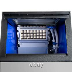 90lbs Built-In Commercial Ice Maker Undercounter Freestand Bar Ice Cube Machine