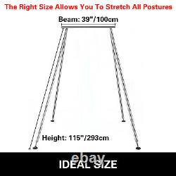 Aerial Trapeze Stand Portable Aerial Rig Yoga Swing Bar Horizontal Bracket Home