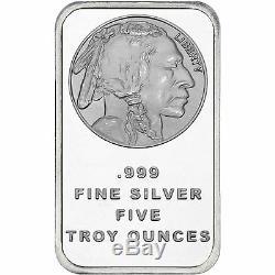 American Buffalo 5oz. 999 Fine Silver Bar