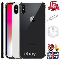 Apple Iphone X (10) 64GB 256GB Space Grey Silver Unlocked Sim Free Smartphones