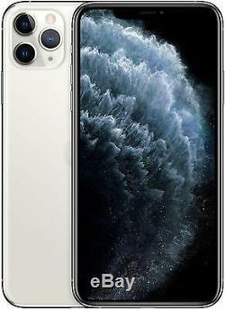 Apple iPhone 11 Pro Max 64GB Silver Verizon T-Mobile AT&T Unlocked Smartphone