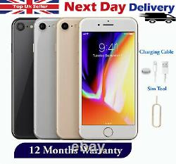 Apple iPhone 8 64GB 256GB Unlocked Smartphone Silver Grey Gold Red Colours