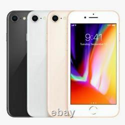 Apple iPhone 8 64GB 256GB Unlocked Straight talk T-mobile AT&T Verizon Metro (N)