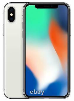 Apple iPhone X 256GB Fully Unlocked (GSM+CDMA) AT&T T-Mobile Verizon Silver