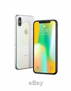 Apple iPhone X 256GB Silver Factory GSM Unlocked With1 Yr Apple Warranty