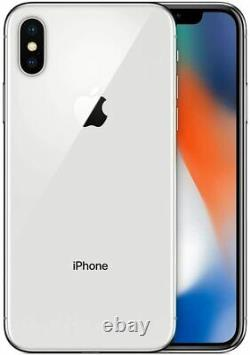 Apple iPhone X 256GB Silver (Unlocked) A1901 (GSM) + FREE Tempered Glass