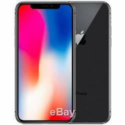 Apple iPhone X 64GB + 256GB Verizon T-Mobile AT&T Fully Unlocked Smartphone