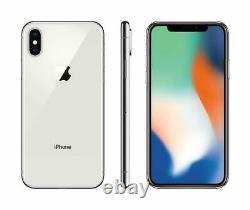 Apple iPhone X 64GB Fully Unlocked (GSM+CDMA) AT&T T-Mobile Verizon Silver