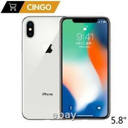 Apple iPhone X 64GB Silver (Metro) A1901 (GSM)