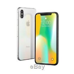 Apple iPhone X 64GB Silver Verizon LTE Cellular CDMA MQCL2LL/A iOS Smartphone