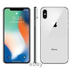 Apple iPhone X 64GB Verizon + GSM Unlocked T-Mobile AT&T 4G LTE- Silver