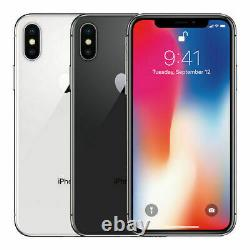 Apple iPhone X 64GB Verizon GSM Unlocked T-Mobile AT&T Space Gray, Silver