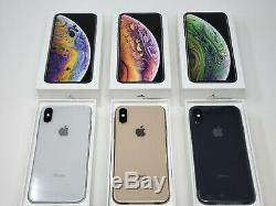 Apple iPhone XS 64GB 256GB GSM Unlocked Silver Space Gray Gold NEW OEM Packaging