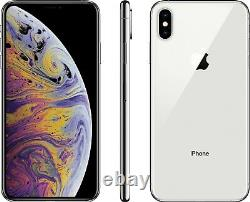 Apple iPhone XS Max 64GB Silver (Factory Unlocked) CDMA + GSM Smartphone