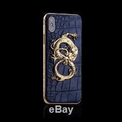Apple iPhone Xs Max 256GB 24ct Crocodile Ruby Monarch