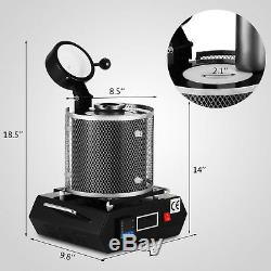 Automatic Melting Furnace Melt 1kg Silver & Gold Pour Bar Digital Controller