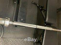 Barbell Olympic Bar Chrome 7ft x 2inch! Includes 2 Steel Clips