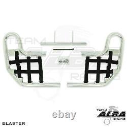 Blaster YFS200 YFS 200 Nerf Bars Alba Racing Silver bar Black nets 212 T1 SB