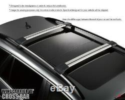 Bmw X5 E70 2007-2013 Roof Rack Cross Bar Cross Rail Lockable Adjustable Silver