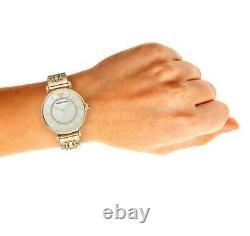 Brand New Genuine Armani Ar1907 Womens Gianni T-bar Watch Gold Strap Pearl Dial
