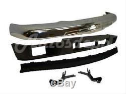 Bundle for 04-12 Colorado Front Bumper Chrome Bar Valance Air Dam Bracket W Hole