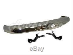 Bundle for 04-12 Colorado Front Bumper Impact Bar Chrome Valance Bracket With Hole