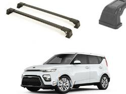 Car Roof Rack Factory Fixed Point Cross Bar For New Kia Soul 2020 Black