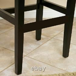 Chantal Backless Leather Counter and Bar Stool, Set of 2