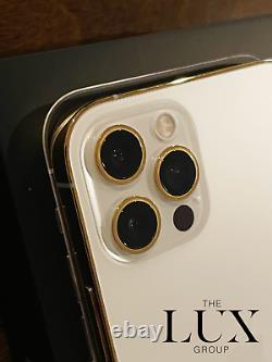 Custom Apple iPhone 12 Pro 512GB 24K Gold Plated Factory Unlocked GSM CDMA