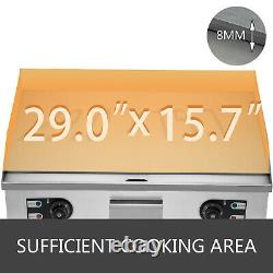 Electric Countertop Griddle 3kw 50300 Flat Grill Bar Stainless Steel NEWEST
