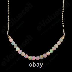 Ethiopian Opal Bar Necklace 925 Sterling Silver Gemstone Jewelry Women Gift 18