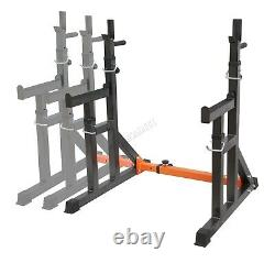 FIT4YOU Adjustable Fitness Squat Rack Stand with Spotter Dip Bars Home Workout