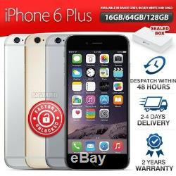 Factory Sealed & Unlocked APPLE iPhone 6 Plus + 16 64 128GB Grey Gold Silver