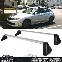 Fits 08-14 Subaru Impreza WRX STi OE Style Roof Rack Cross Bar Pairs