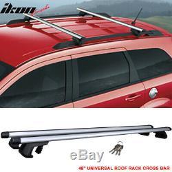 Fits 48 Inch Top Rail Roof Rack Cross Bar Carrier Aluminum 120CM Lock Key