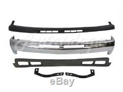 For 00-04 CHEVY TAHOE FRONT BUMPER FACE BAR CHR CAP VALANCE OUT BRACE WithFOG HOLE