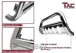 For 07-20 Toyota Tundra / 08-20 Toyota Sequoia 3 Bull Bar Grille Guard Chrome