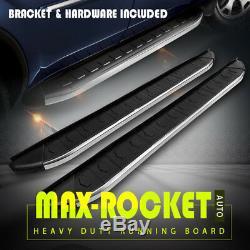 For 09-15 Honda Pilot OE Style 6 Running Boards Side Steps Nerf Bars Silver+BLK